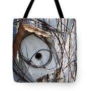Birdhouse Brambles Tote Bag