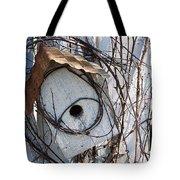 Birdhouse Brambles Tote Bag by Lauri Novak