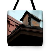 Birdhouse On Top Of House Tote Bag