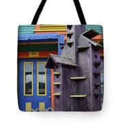 Birdhouses For Colorful Birds 2 Tote Bag