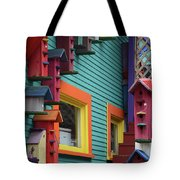 Birdhouses For Colorful Birds 3 Tote Bag