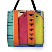 Birdhouses For Colorful Birds 5 Tote Bag