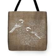 Birds And Burlap 2 Tote Bag