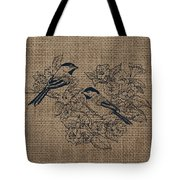 Birds And Burlap 1 Tote Bag