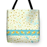 Birds And Daisies Tote Bag