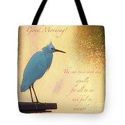 Birds And Fun At Butler Park Austin - Birds 3 Detail Macro Poster - Good Morning Tote Bag
