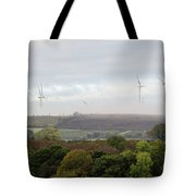 Birds And Wind Turbines  Tote Bag