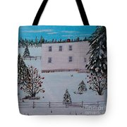 Birds Berries And November Snow Tote Bag