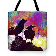 Birds Crow Black  Tote Bag