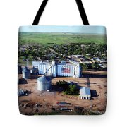 Birds Eye View Of Chappell Tote Bag by Rural Housewife