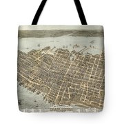 Birds Eye View Of Charleston Tote Bag