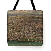 Birds Eye View Of Chicago 1916 Tote Bag
