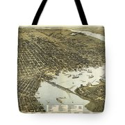 Birds Eye View Of Jacksonville Florida 1893 Tote Bag
