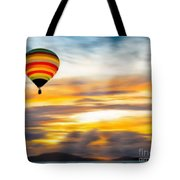 Birds Eye View Of Sunset Tote Bag