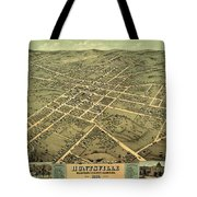 Bird's Eye View Of The City Of Huntsville, Madison County, Alabama 1871 Tote Bag