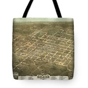 Bird's Eye View Of The City Of Raleigh, North Carolina 1872 Tote Bag