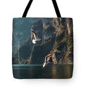 Birds Fishing Tote Bag