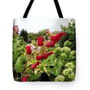 Birds In A Tree Flowers Tote Bag