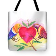 Birds In Love 01 Tote Bag