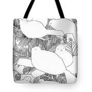 Birds In Pine Tote Bag