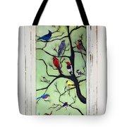 Birds In The Tree Framed Tote Bag