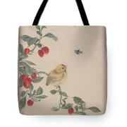 Birds Insects And Flowers Tote Bag
