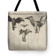 Birds Nailed To A Barn Door (le Haut D'un Battant De Porte) Tote Bag