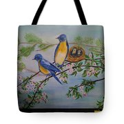 Birds Nest Family Tote Bag