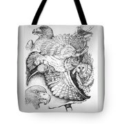 Birds Of Prey Collage One Tote Bag