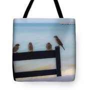 Birds On A Chair Tote Bag