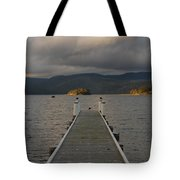 Birds On A Pier Tote Bag