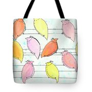 Quail On A Wire Tote Bag