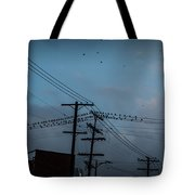 Los Angeles Birds On A Wire Tote Bag