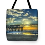 Birds On The Roof Sunrise Tybee Island Tote Bag