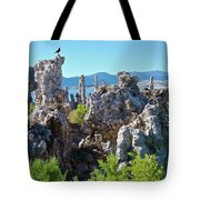 Birds On Tufa Towers-mono Lake Tote Bag