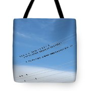 Birds On Wires Tote Bag