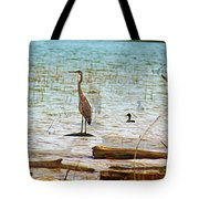 Birds Reflections Tote Bag