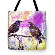 Birds Stare Nature Songbird  Tote Bag
