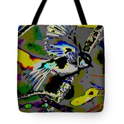 Birds That Fly In Electric Skies Tote Bag