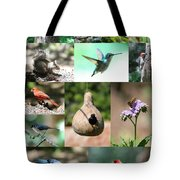 Birdsong Nature Center Collage Tote Bag