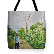 Birdwatching On Honeymoon Island Tote Bag