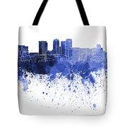 Birmingham Al Skyline In Blue Watercolor On White Background Tote Bag