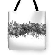 Birmingham Skyline In Black Watercolor On White Background Tote Bag