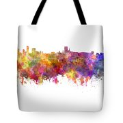Birmingham Skyline In Watercolor On White Background Tote Bag