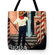 Birra San Marco, Venezia, Italy - Woman With Beer Glass - Retro Travel Poster - Vintage Poster Tote Bag