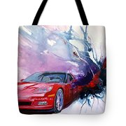 Birth Of A Corvette Tote Bag