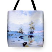 Birth Of Spring In The Snow Tote Bag