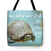 Birthday Card - Painted Turtle Tote Bag