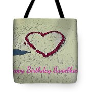 Birthday Card For Sweethearts Tote Bag