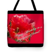 Birthday Special Friend - Red Parrot Tulip Tote Bag
